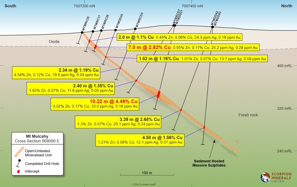 Typical Mt Mulcahy cross section
